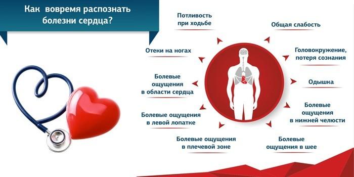 Как распознать болезни сердца