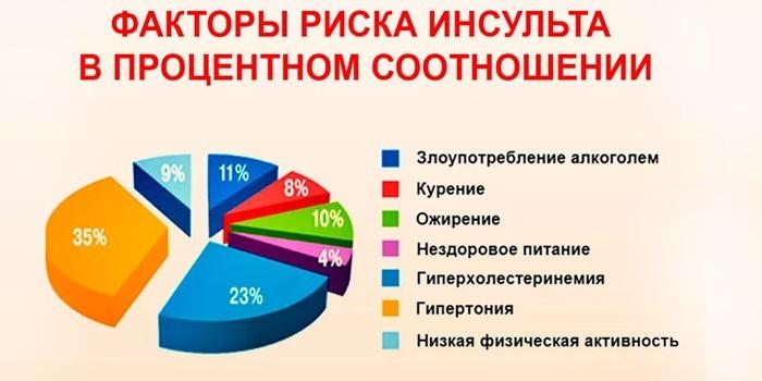 Факторы риска в процентном соотношении
