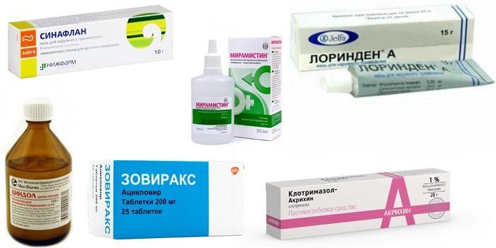 Медикаменты для местного лечения
