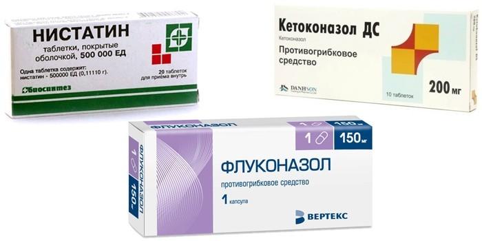 Нистатин, Флуконазол и Кетоконазол