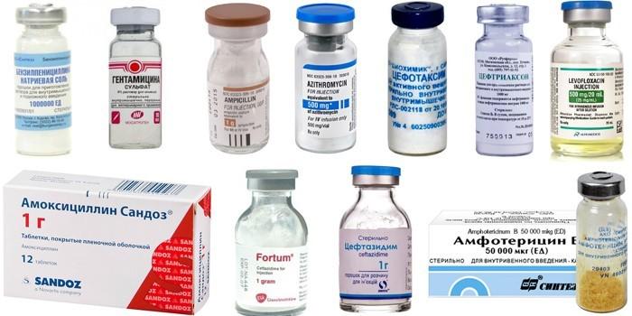 Антибиотики для терапии