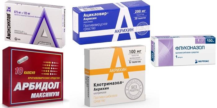Антибиотики, противовирусные и антимикотические средства