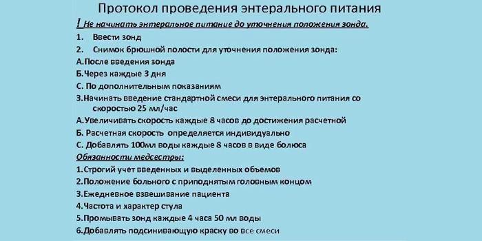 Протокол для медсестры