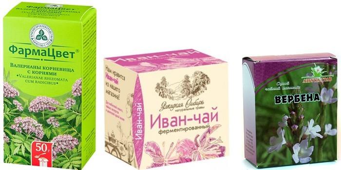 Валериана, иван-чай и вербена