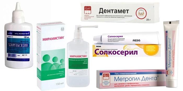 Растворы и гели для лечения