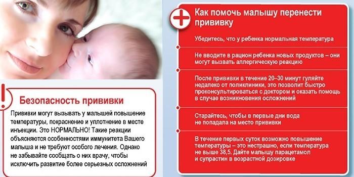 Как помочь малышу перенести прививку