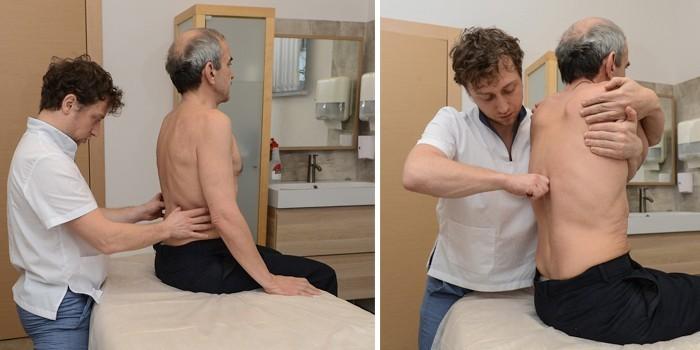 мужчина на сеансе остеопатии