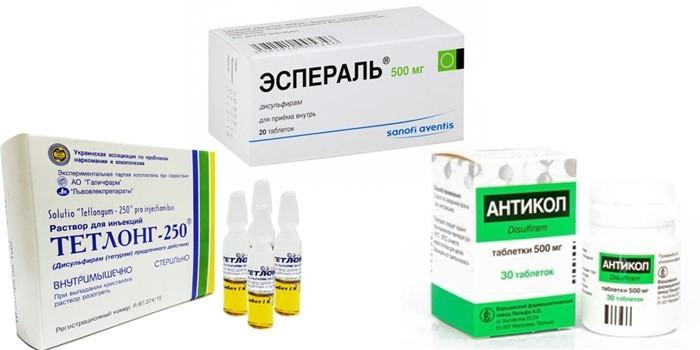 Препараты Тетлонг, Эспераль и Антикол