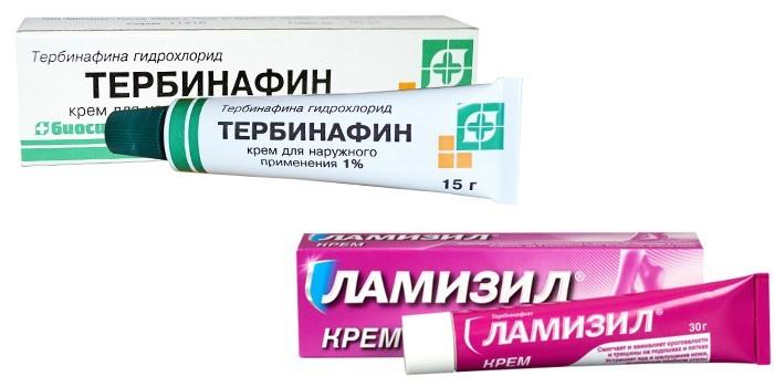 Кремы Тербинафин и Ламизил