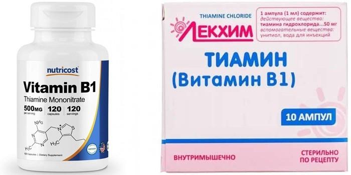 Тиамин в таблетках и ампулах