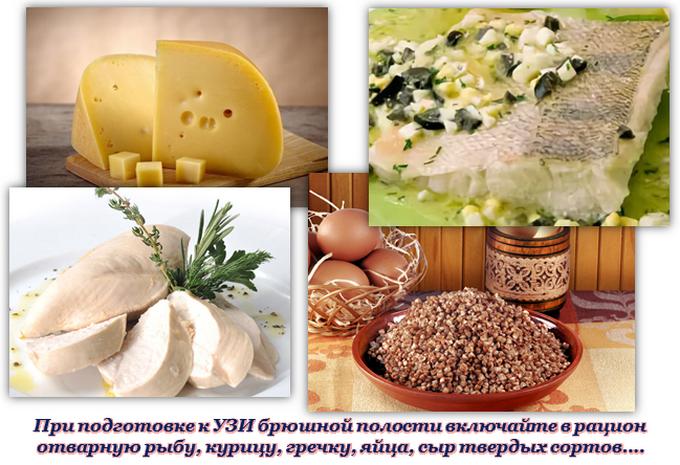 Рекомендованные продукты перед УЗИ