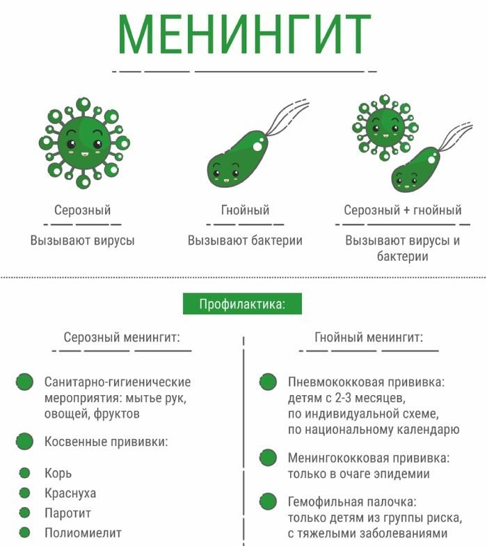 Виды и профилактика менингита