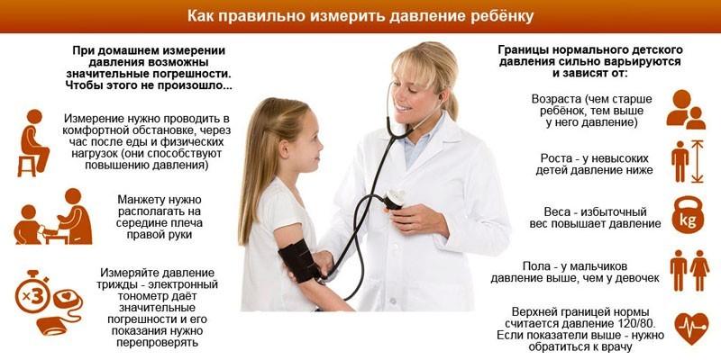 Измерения артериального давления ребенку