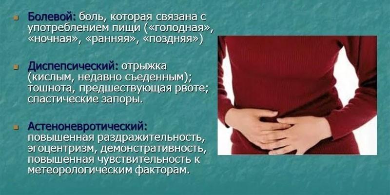 Проявления прободной язвы желудка