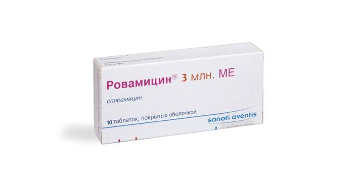 Таблетки Ровамицин