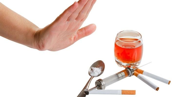 Отказ от наркотиков, сигарет и алкоголя