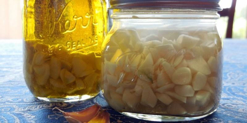 Настой чеснока на масле или воде
