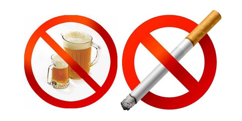 Знаки, запрещающие алкоголь и курение