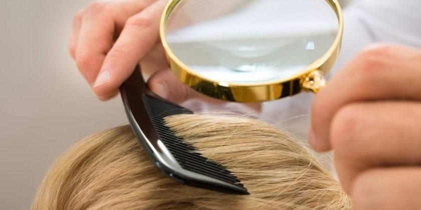 Расчесывание волос частым гребнем