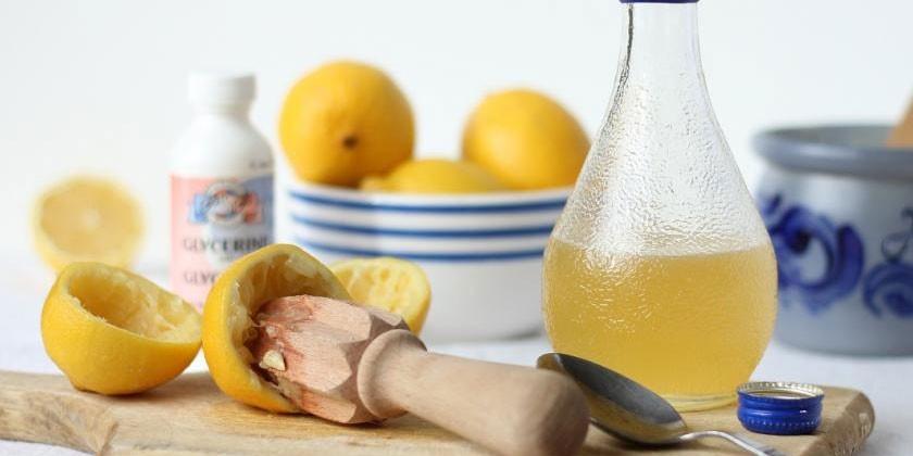 Лимонный сок с глицерином