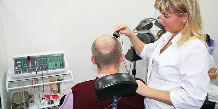 Лечение облысения физиотерапией