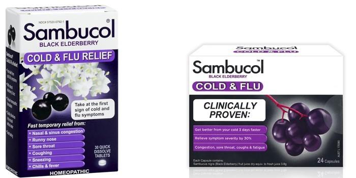 Порошок и таблетки Самбукол