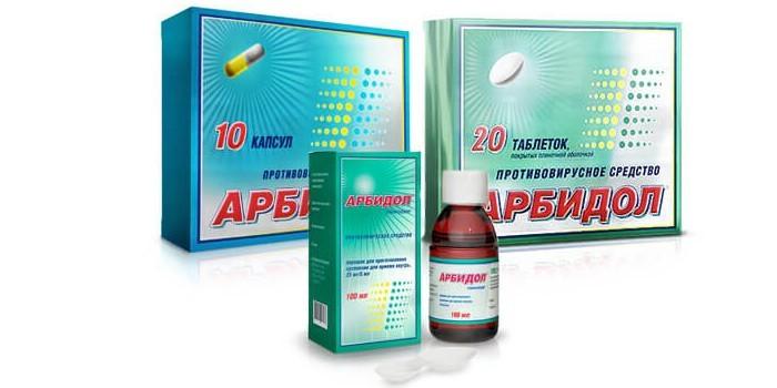Таблетки, капсулы и сироп Арбидол