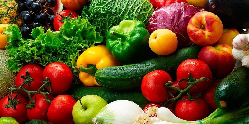 Свежие фрукты, ягоды, овощи