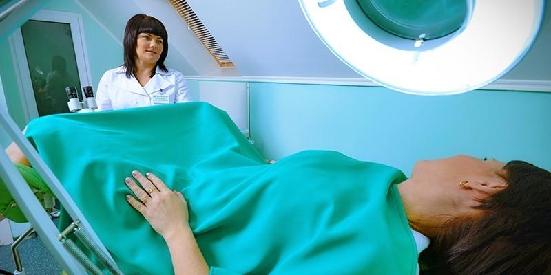 Пациентка на гинекологическом осмотре