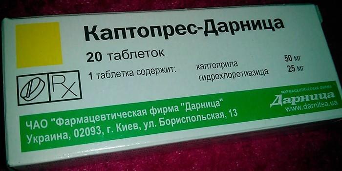 Препарат Каптопрес-Дарница