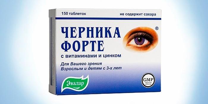 Таблетки Черника Форте