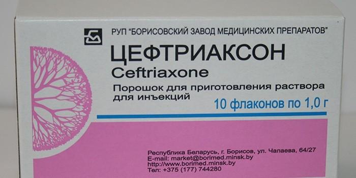 Раствор для инъекций Цефтриаксон