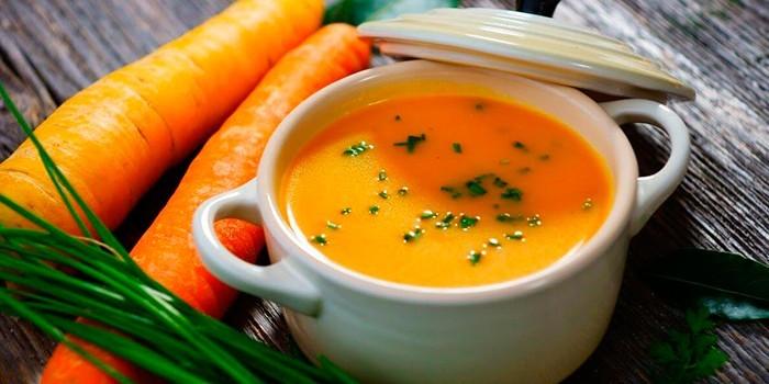 Суп и морковка