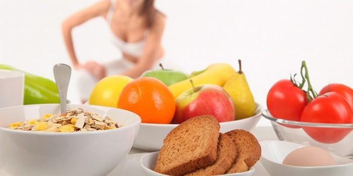 Овощи, хлеб и фрукты
