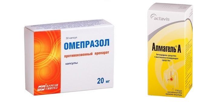 Омепразол, Альмагель