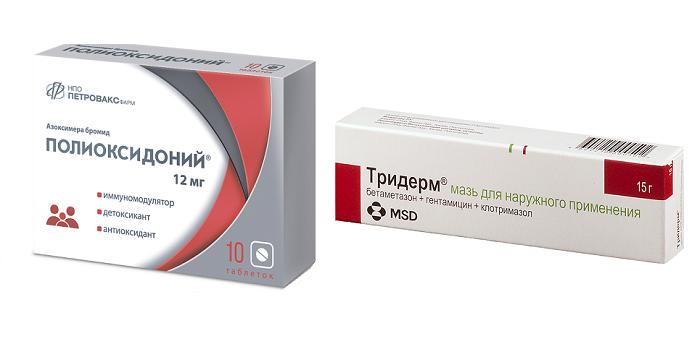 Мази Тридерм и Полиоксидоний