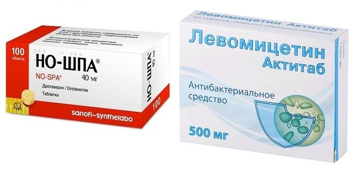 Но-Шпа, Левомицетин