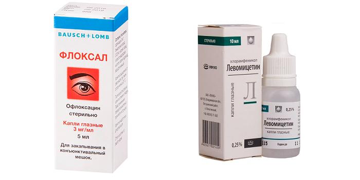 Капли Флоксал и Левомицетин