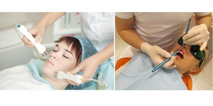 Пациентки на сеансах магнитотерапии и лазеротерапии