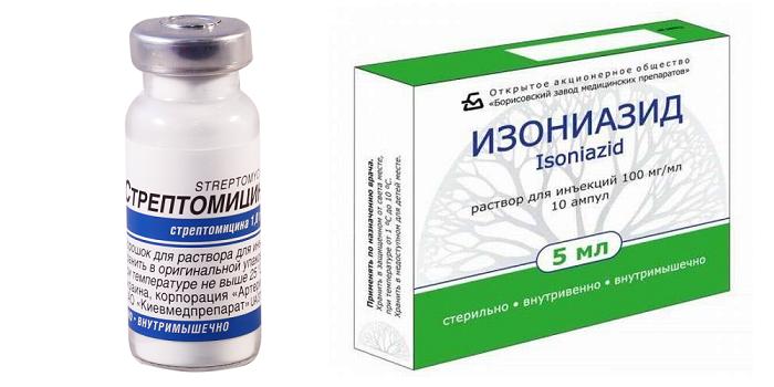 Стрептомицин и Изониазид