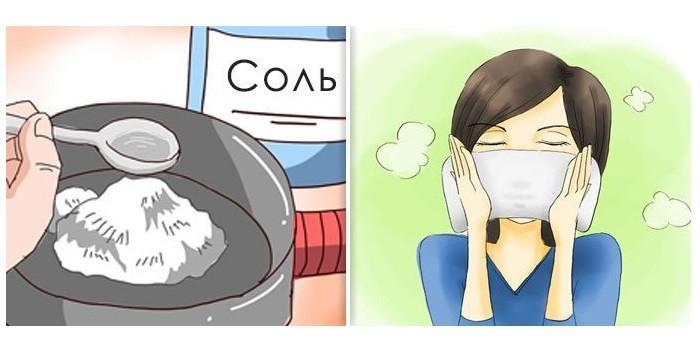 Прогревания солью