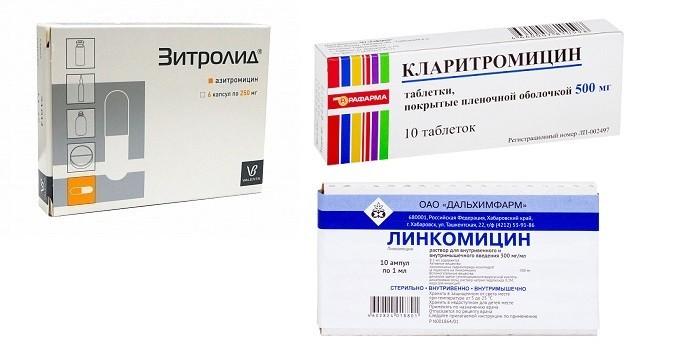 Зитролид, Кларитромицин и Линкомицин в ампулах