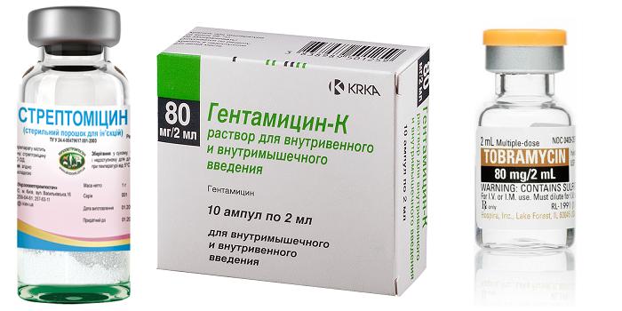 Растворы Стрептомицин, Гентамицин и Тобрамицин