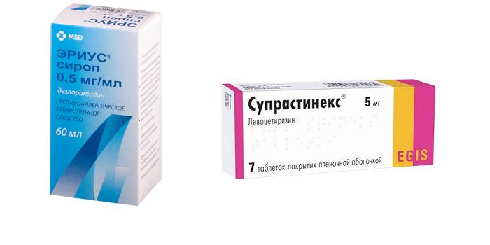 Антигистаминные лекарства