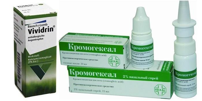 Препараты Вивидрин и Кромогексал