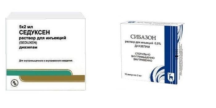 Противосудорожные препараты Седуксен и Сибазон
