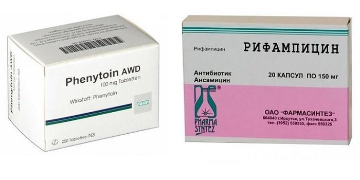Препараты Фенитоин и Рифампицин