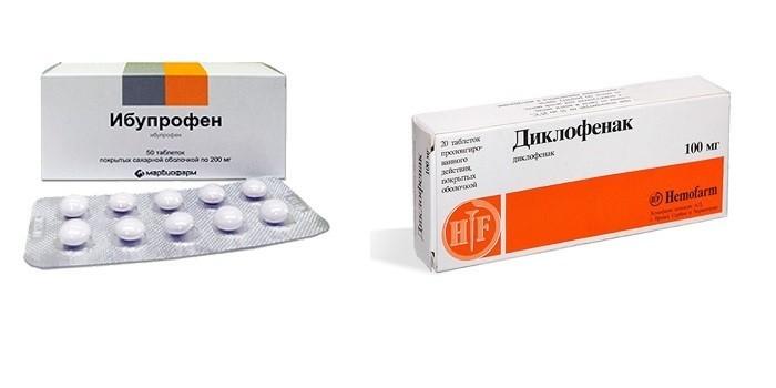 Обезболивающие Ибупрофен и Диклофенак