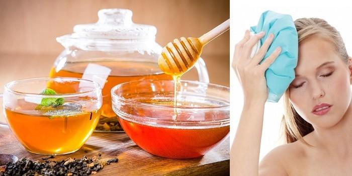 Чай с медом и компресс со льдом