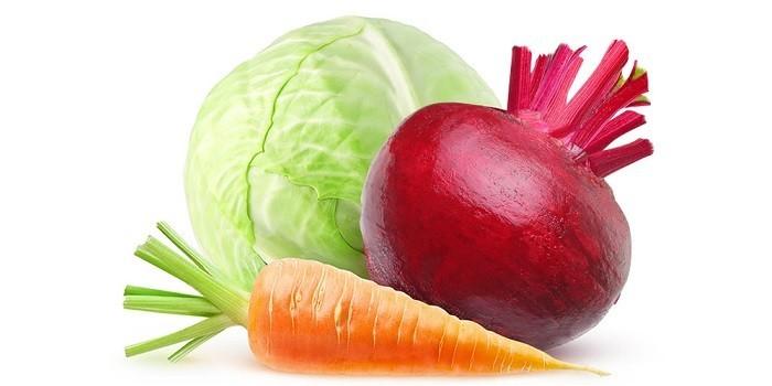 Капуста, свекла и морковь